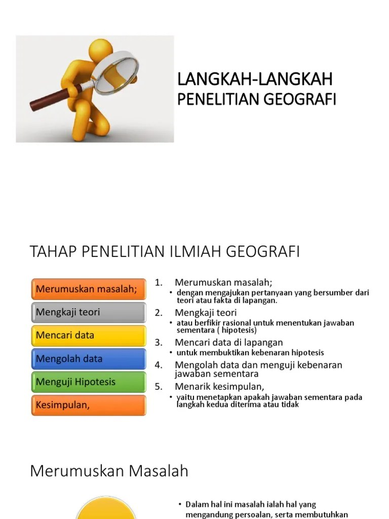 Langkah-langkah Penelitian Geografi : langkah-langkah, penelitian, geografi, Langkah-langkah, Penelitian, Geografi