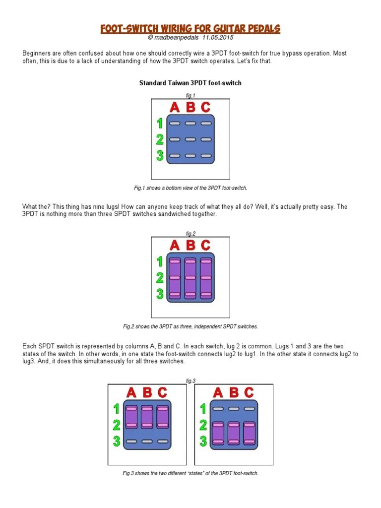 small resolution of 3pdt wiring diagram