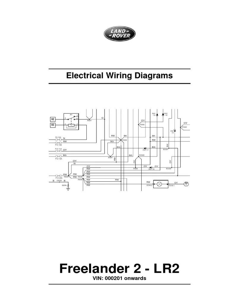 medium resolution of freelander 2 wiring diagram