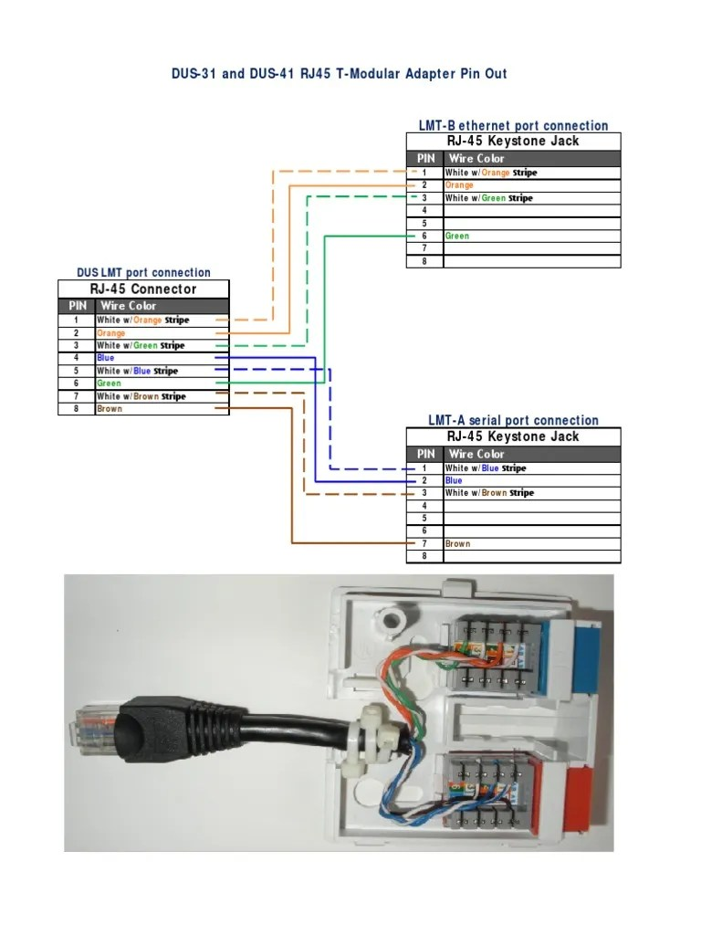 adaptadordus4101 pdf electrical connector telecommunications equipment [ 768 x 1024 Pixel ]