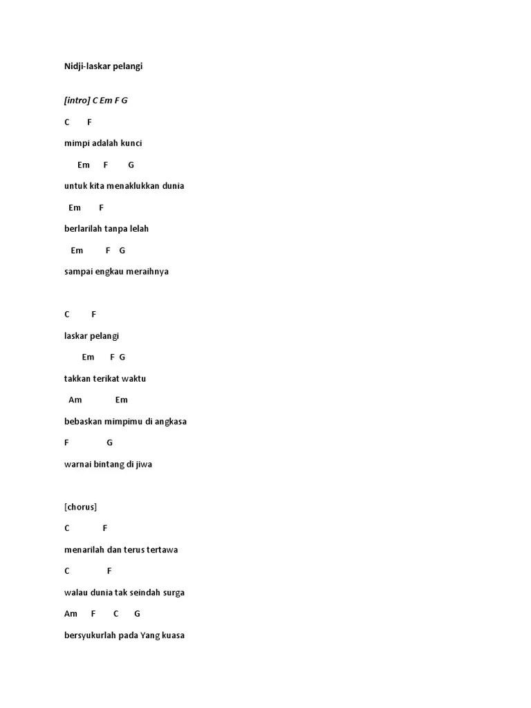 Pelangi Hivi Chord : pelangi, chord, Kunci, Gitar, Pelangi
