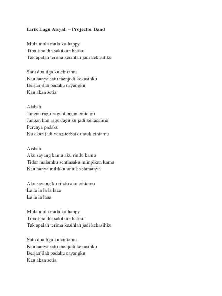 Lirik Lagu Hanya Rindu : lirik, hanya, rindu, Lirik, Aisyah
