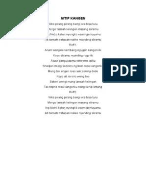 Lirik Dan Terjemahan Lagu Nitip Kangen (Dan Artinya)