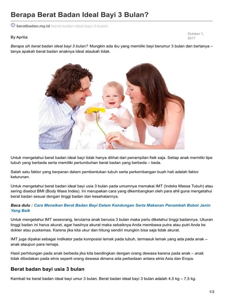Makanan Bayi 7 Bulan Penambah Berat Badan : makanan, bulan, penambah, berat, badan, Beratbadan.my.Id-Berapa, Berat, Badan, Ideal, Bulan