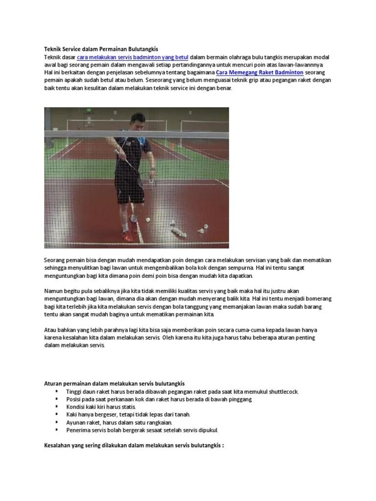 Teknik Servis Badminton : teknik, servis, badminton, Teknik, Service, Dalam, Permainan, Bulutangkis