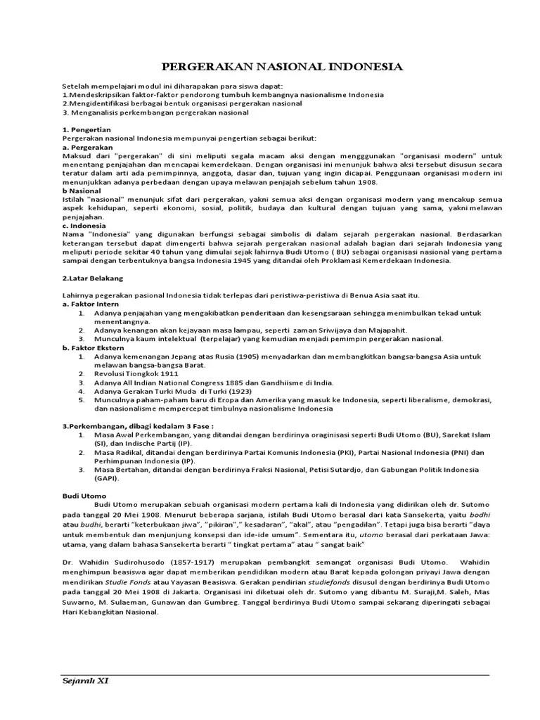 Sebutkan Ciri Ciri Organisasi : sebutkan, organisasi, Sebutkan, Organisasi, Pergerakan, Nasional, Indonesia