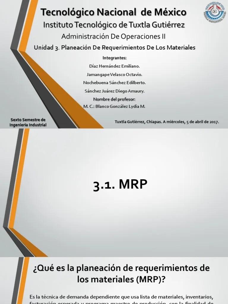 hight resolution of mrp diagrama de flujo