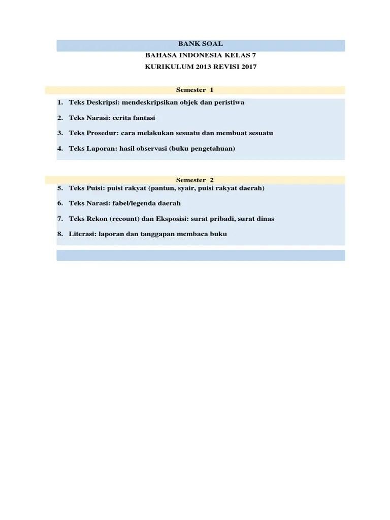 Soal Ulangan Harian Bahasa Indonesia Kelas 7 Semester 2 : ulangan, harian, bahasa, indonesia, kelas, semester, Daftar, Ulangan, Harian, Bahasa, Indonesia, Kelas