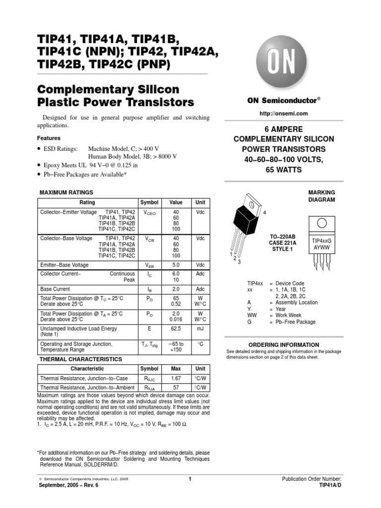 tip41 tip42 amplifier diagram [ 768 x 1024 Pixel ]