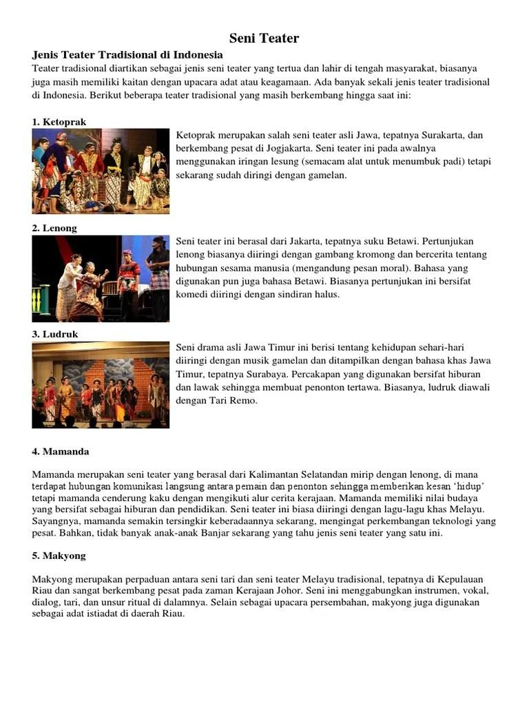 Teater Tradisional Jawa Tengah : teater, tradisional, tengah, Teater