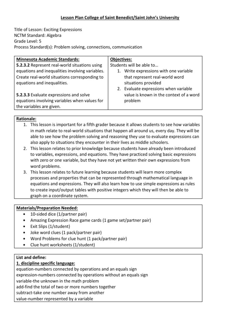 hight resolution of 5th grade algebra lesson   Equations   Variable (Mathematics)