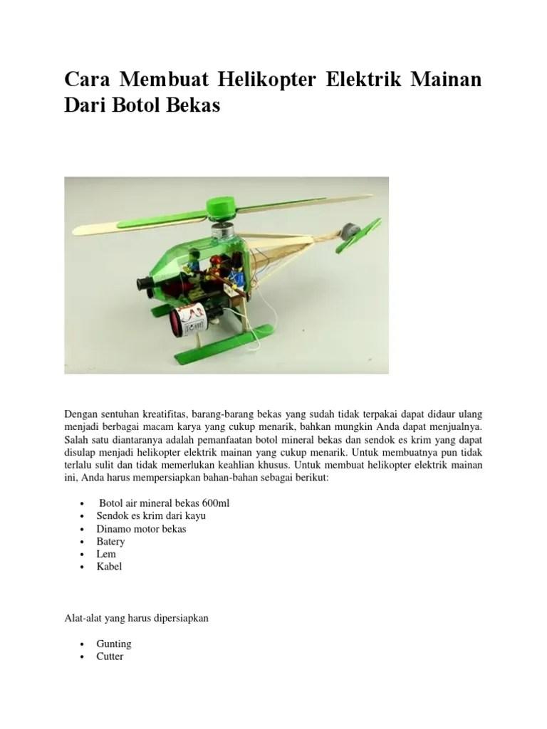 Cara Membuat Miniatur Helikopter Dari Korek Gas : membuat, miniatur, helikopter, korek, Membuat, Helikopter, Botol, Bersama