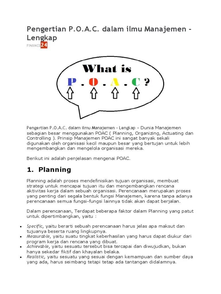 Makalah Poac : makalah, Contoh, Planning, Organizing, Actuating, Controlling, Dalam, Perusahaan, Temukan, Cute766