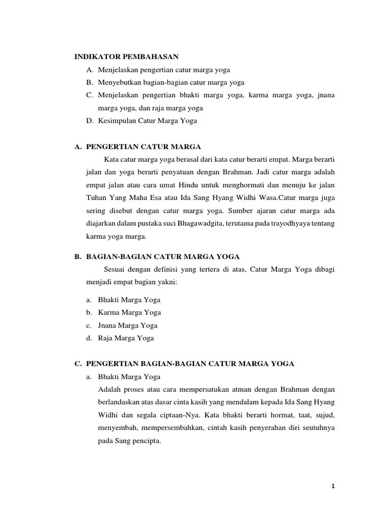 Bagian-bagian Catur Marga Yoga : bagian-bagian, catur, marga, Tugas, Agama