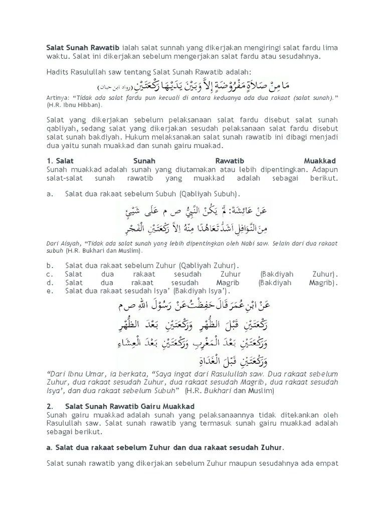 Rawatib Muakkad Adalah : rawatib, muakkad, adalah, Salat, Sunah, Rawatib, Ialah, Sunnah, Dikerjakan, Mengiringi, Fardu