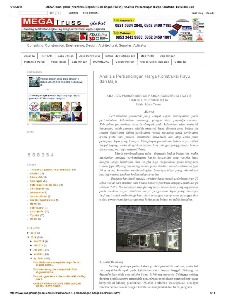 perbandingan harga baja ringan vs kayu megatrussgloball analisisperbandinganhargakonstruksi kayudanbaja