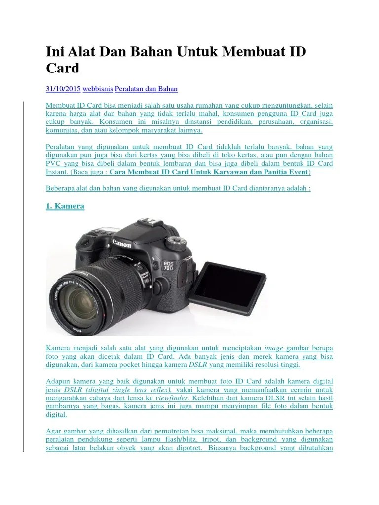 Bahan Untuk Membuat Id Card : bahan, untuk, membuat, Bahan, Untuk, Membuat