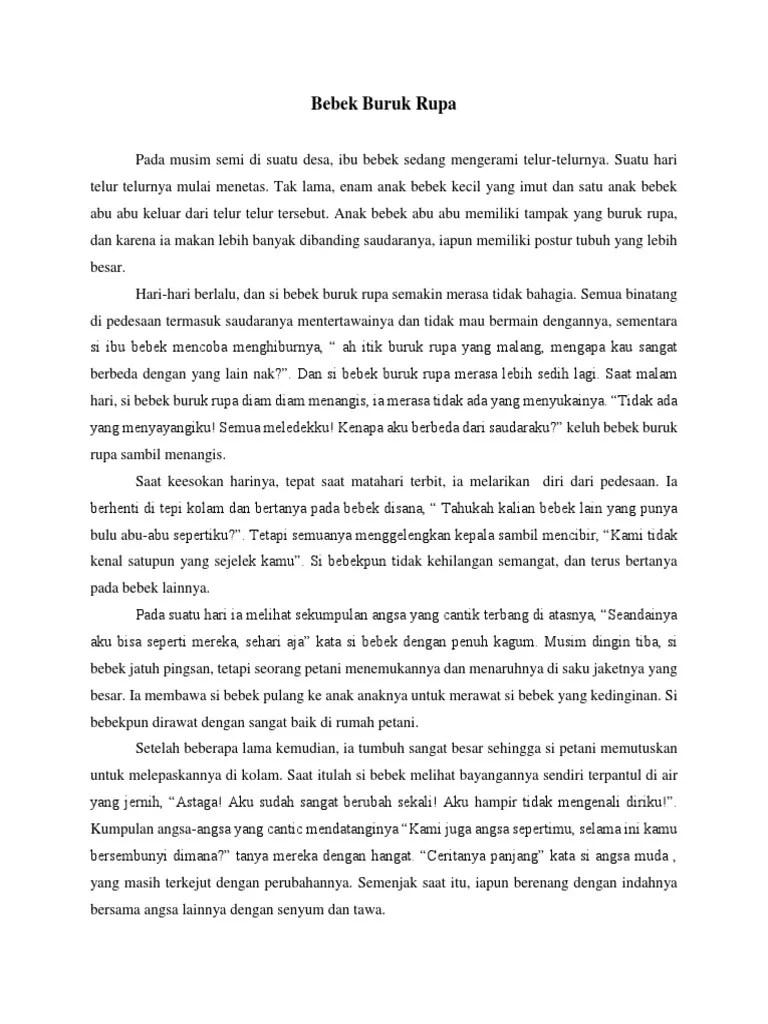 Cerita Bebek Buruk Rupa : cerita, bebek, buruk, Dongeng, Bebek, Buruk