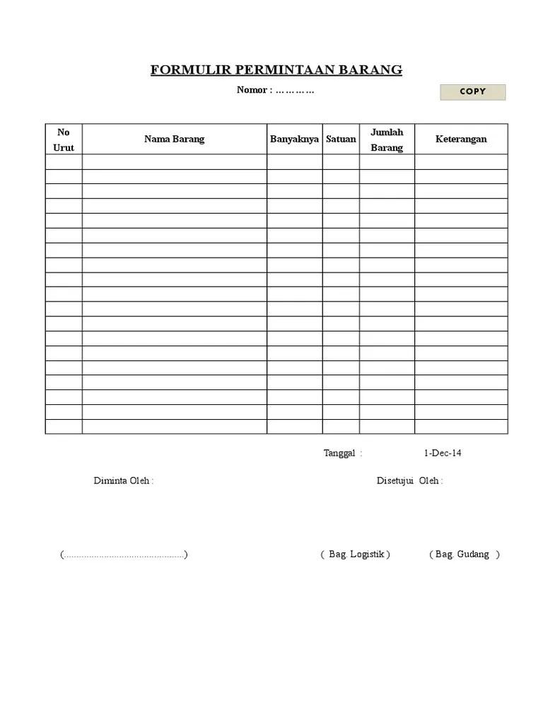 Form Permintaan Barang Excel : permintaan, barang, excel, Permintaan, Barang, Cute766