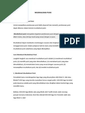 Langkah Langkah Musikalisasi Puisi : langkah, musikalisasi, puisi, Musikalisasi, Puisi, Unsur, Syair