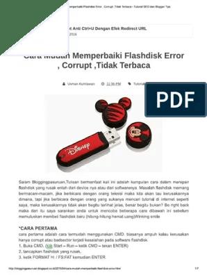 Cara Memperbaiki Flashdisk Yang Filenya Corrupt : memperbaiki, flashdisk, filenya, corrupt, Memperbaiki, Flashdisk, Filenya, Corrupt