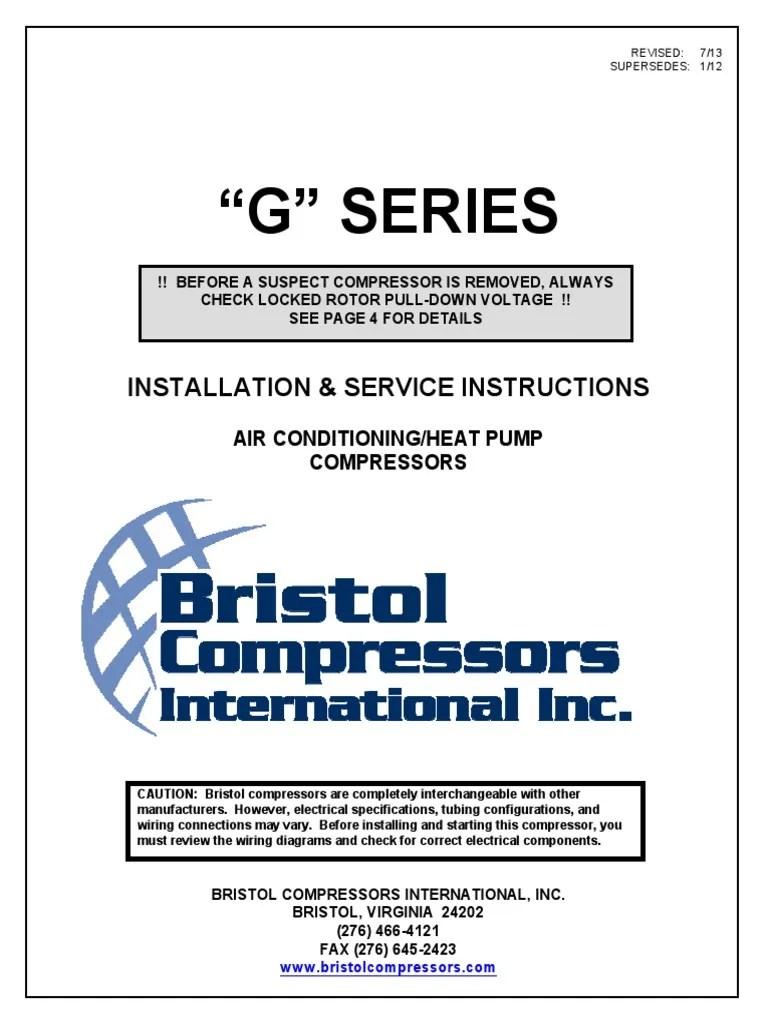 medium resolution of bristol compressor wiring diagram online wiring diagram electric heat pump wiring diagram bristol compressor wiring diagram