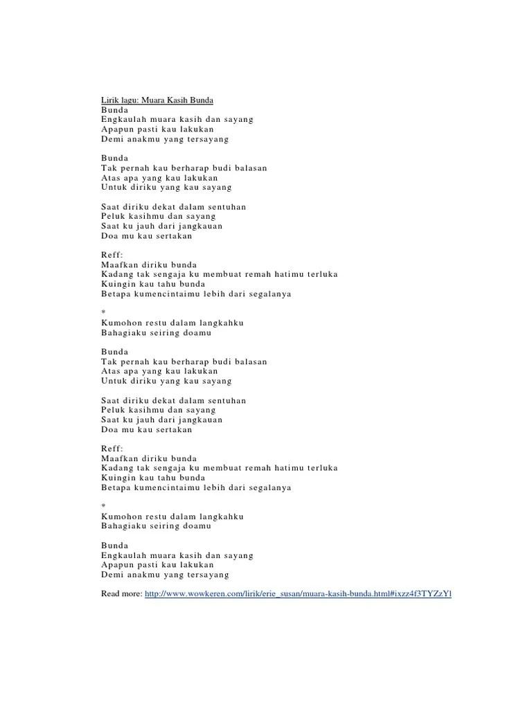 Download Lagu Muara Kasih Bunda : download, muara, kasih, bunda, Lirik, Bunda