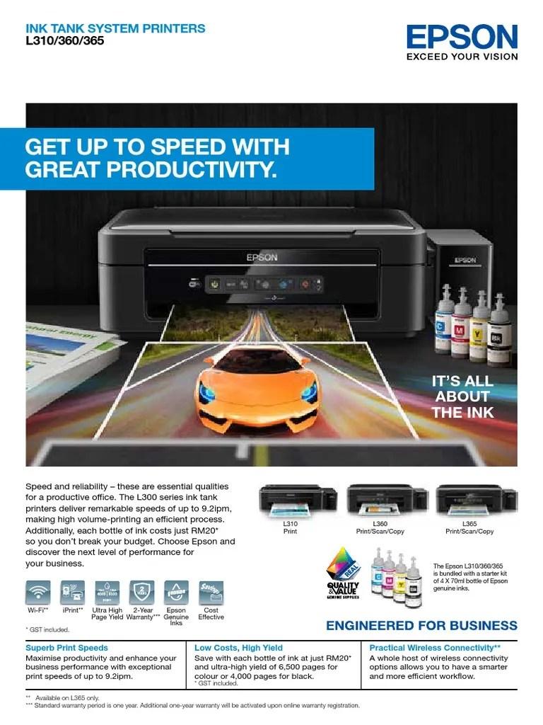 Download Driver Printer Epson L3110 All In One Printer