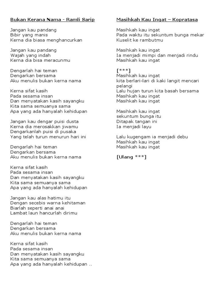 Pelangi Kasih Lirik : pelangi, kasih, lirik, Lirik