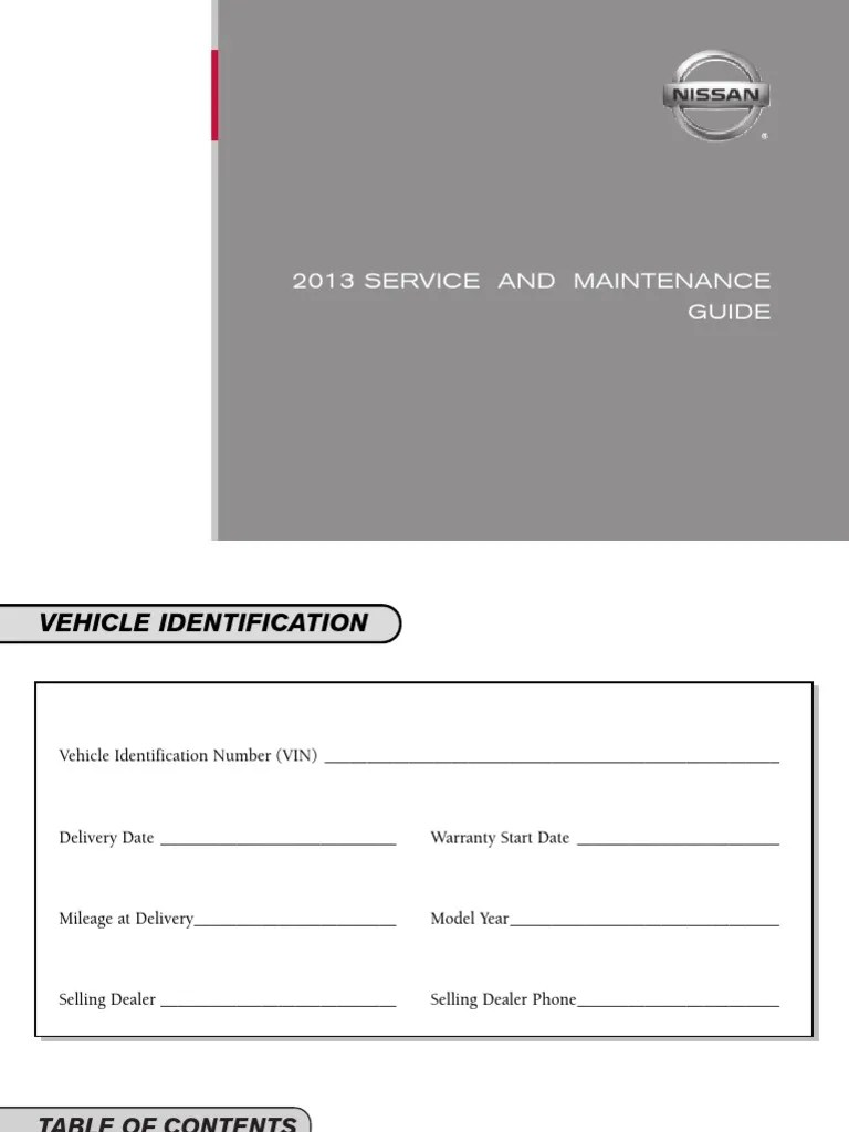 medium resolution of 2013 nissan service maintenance guide four wheel drive transmission mechanics