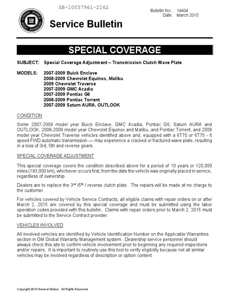 Sb 10057961 2162 Transmission Mechanics General Motors Rh Es Scribd Com Gm  Technical Service Bulletins Pi