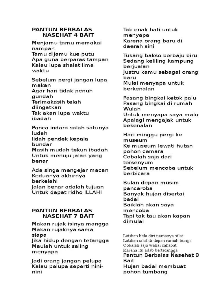 Pantun Berbalas Balasan Persahabatan : pantun, berbalas, balasan, persahabatan, Contoh, Berbalas, Pantun, Jenaka, Orang, Kumpulan, Ceramah, Kultum, Puisi, Cute766