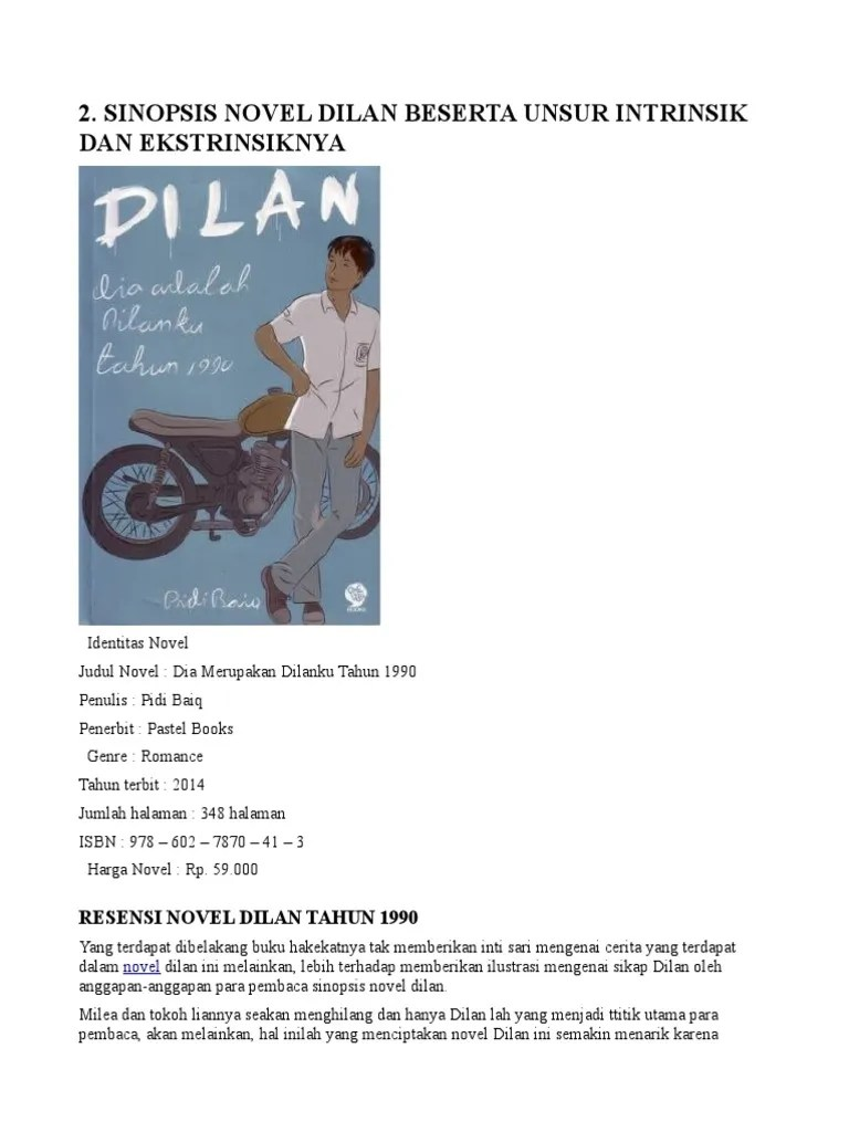 Sinopsis Novel Dilan 1990 : sinopsis, novel, dilan, Sinopsis
