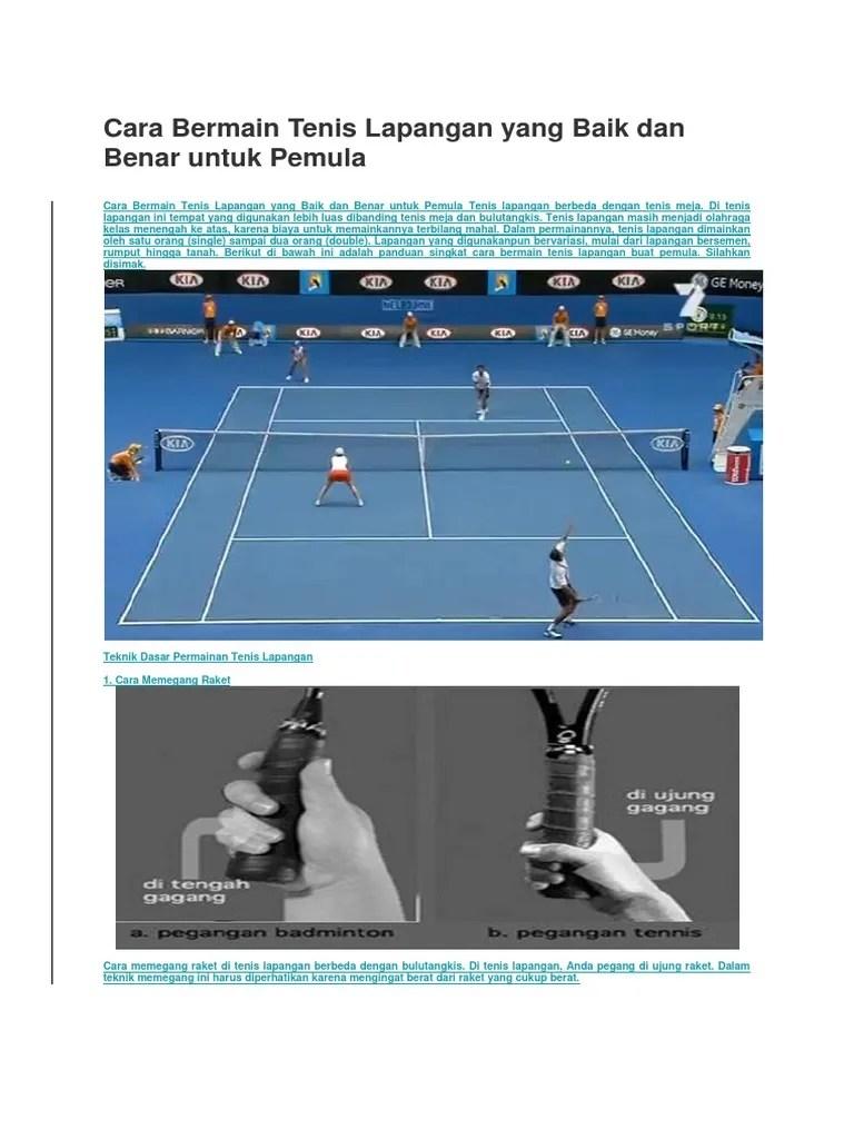 Cara Bermain Tenis : bermain, tenis, Bermain, Tenis, Lapangan, Benar, Untuk, Pemula