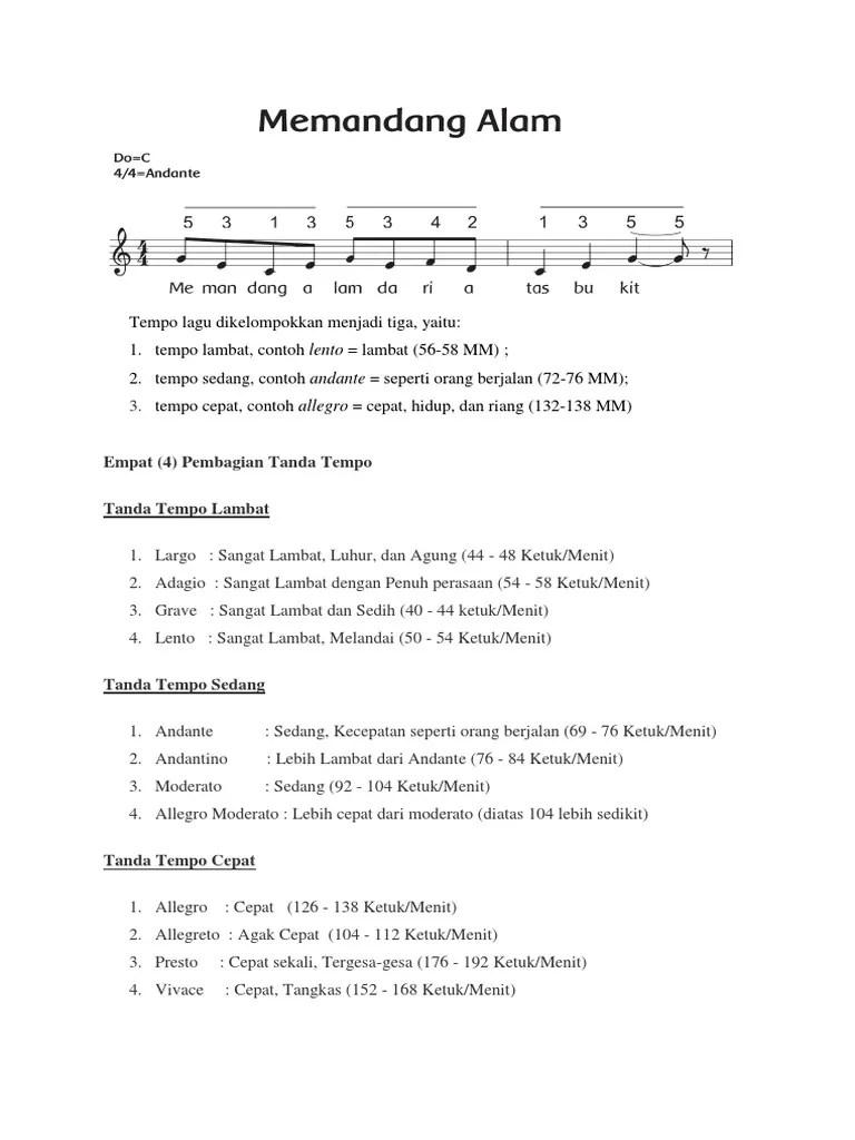 Contoh Lagu Tempo Cepat : contoh, tempo, cepat, MATERI