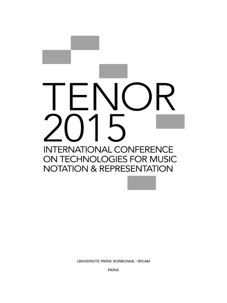 TENOR2015 Proceedings | Json | No Sql