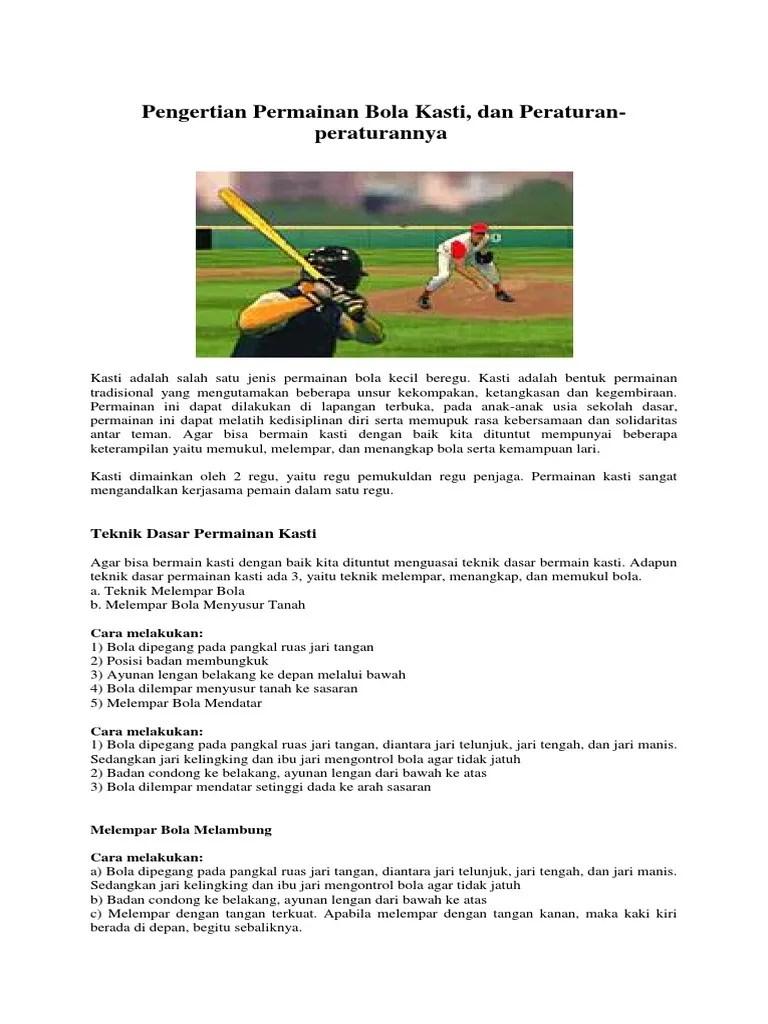 Pengertian Permainan Baseball : pengertian, permainan, baseball, Pengertian, Permainan, Kasti