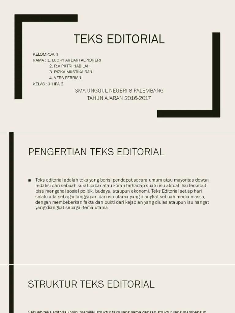 Teks Editorial Adalah : editorial, adalah, Berikut, Adalah, Ciri-ciri, Editorial