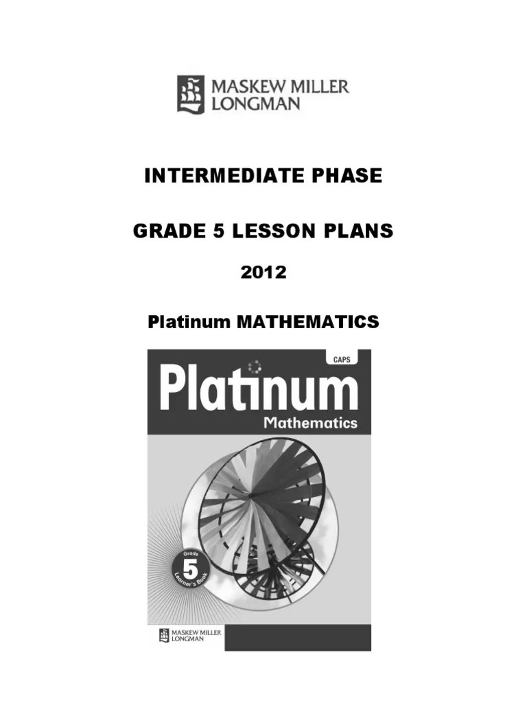 small resolution of platinum-mathematics-grade-5-lesson-plans.docx   Multiplication   Fraction ( Mathematics)