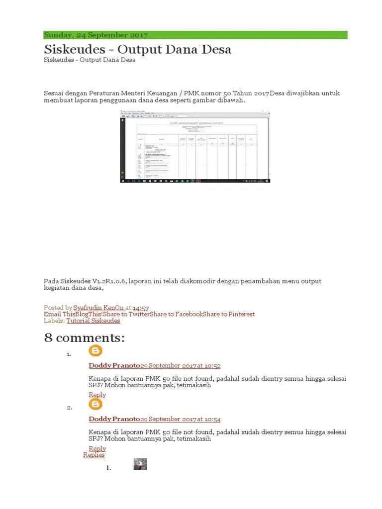 Tutorial Siskeudes : tutorial, siskeudes, Siskeudes, Output