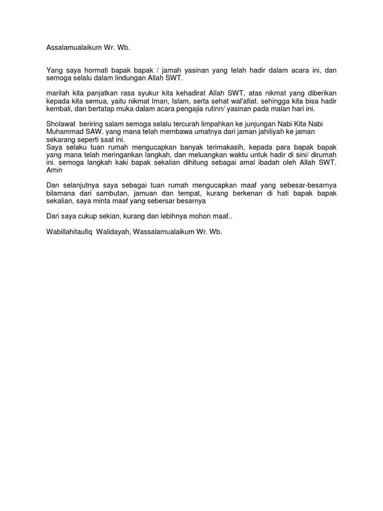 Sambutan Tuan Rumah Bahasa Jawa : sambutan, rumah, bahasa, Pidato, Bahasa, Singkat, Sambutan, Rumah, Kumpulan, Referensi