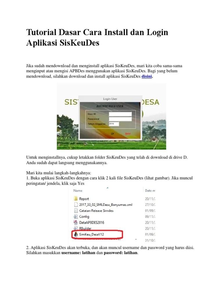 Tutorial Siskeudes : tutorial, siskeudes, Tutorial, Dasar, Install, Login, Aplikasi, SisKeuDes