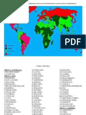 Peta Negara Maju : negara, Negara