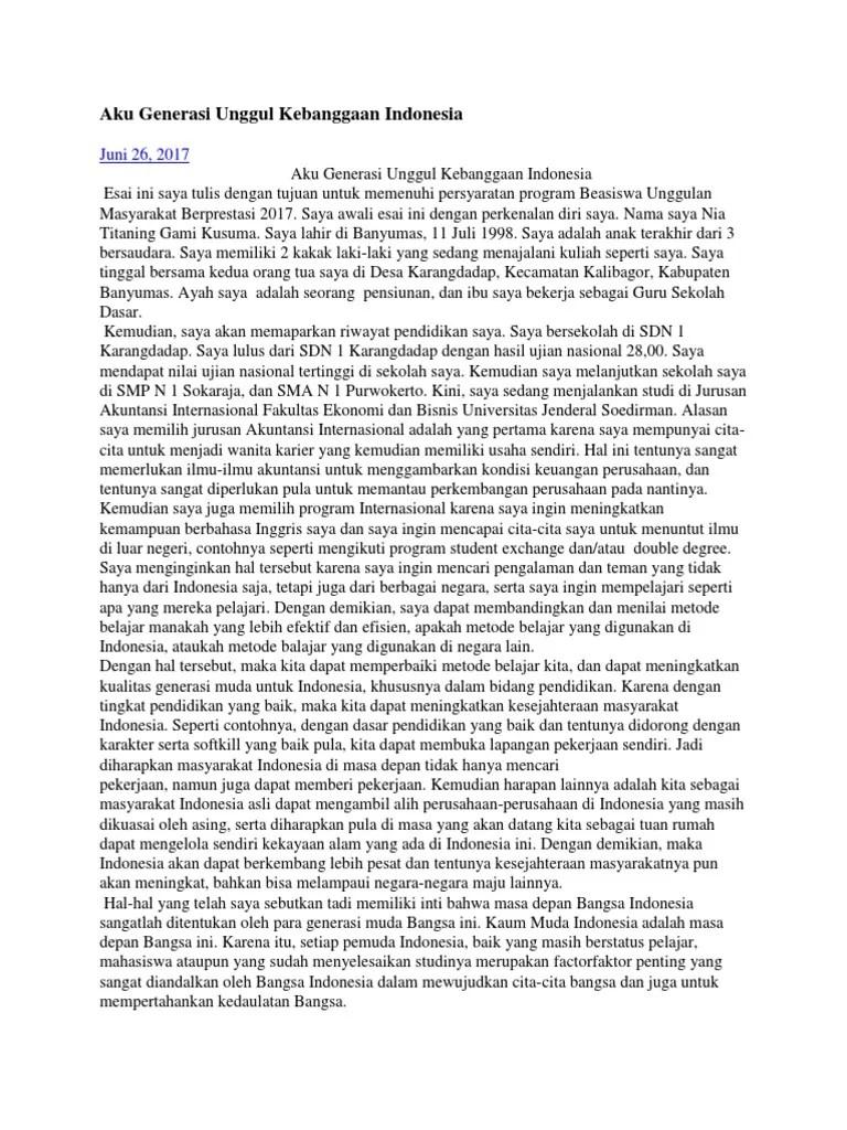 Contoh Essay Mengenai Harapan Dan Tujuan Mengikuti Program Beasiswa Temukan Contoh Resep Kuini