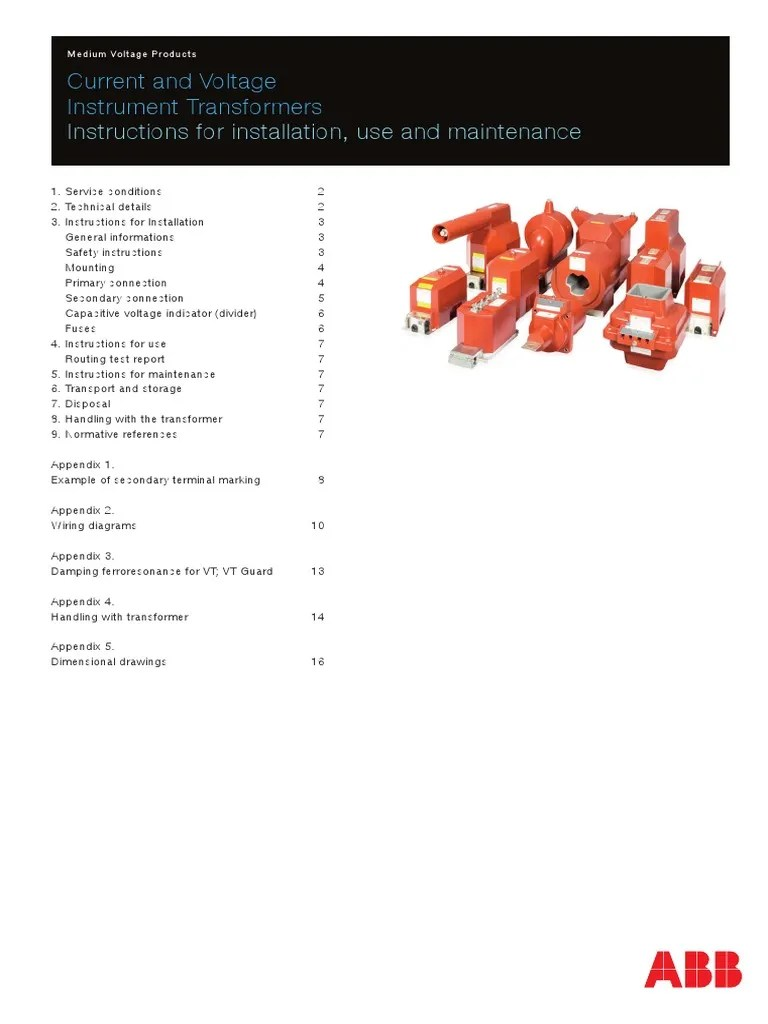medium resolution of abb mv current and voltage transformers transformer fuse electrical