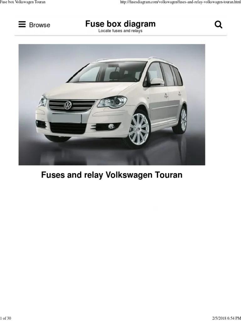 medium resolution of fuse box volkswagen touran anti lock braking system relay fuse box diagram vw touran fuse box diagram vw touran