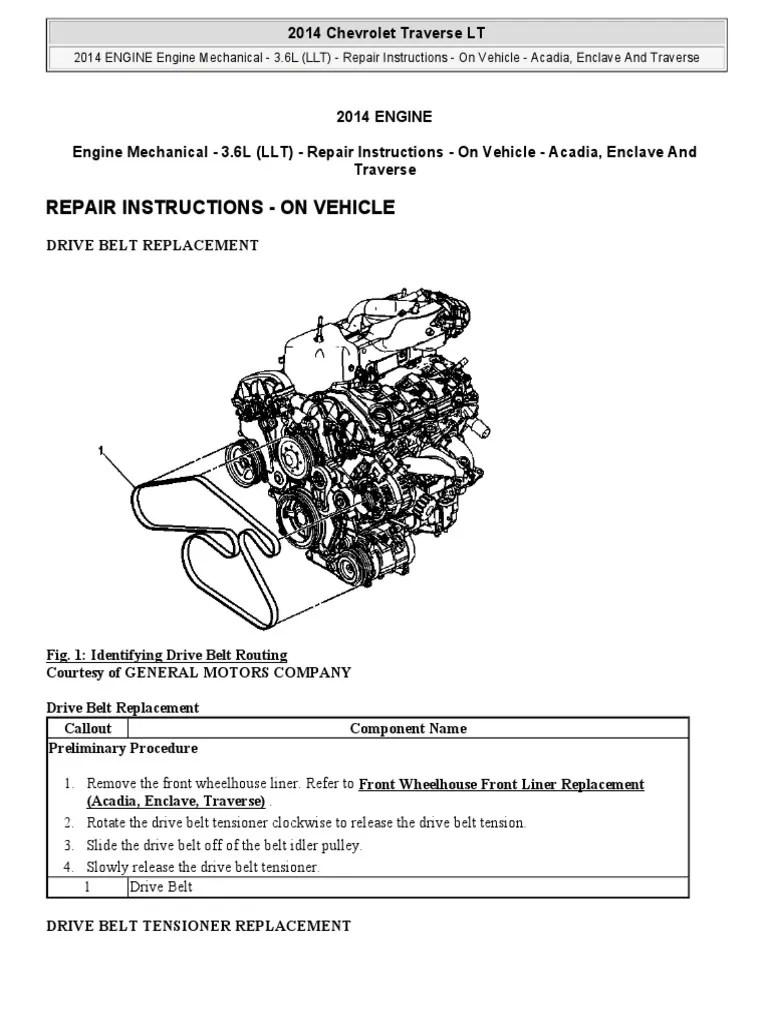 medium resolution of 2011 chevy traverse belt diagram