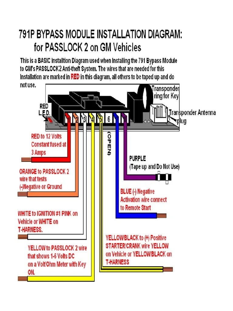 hight resolution of 791p bypass passlock 2 diagram pdf