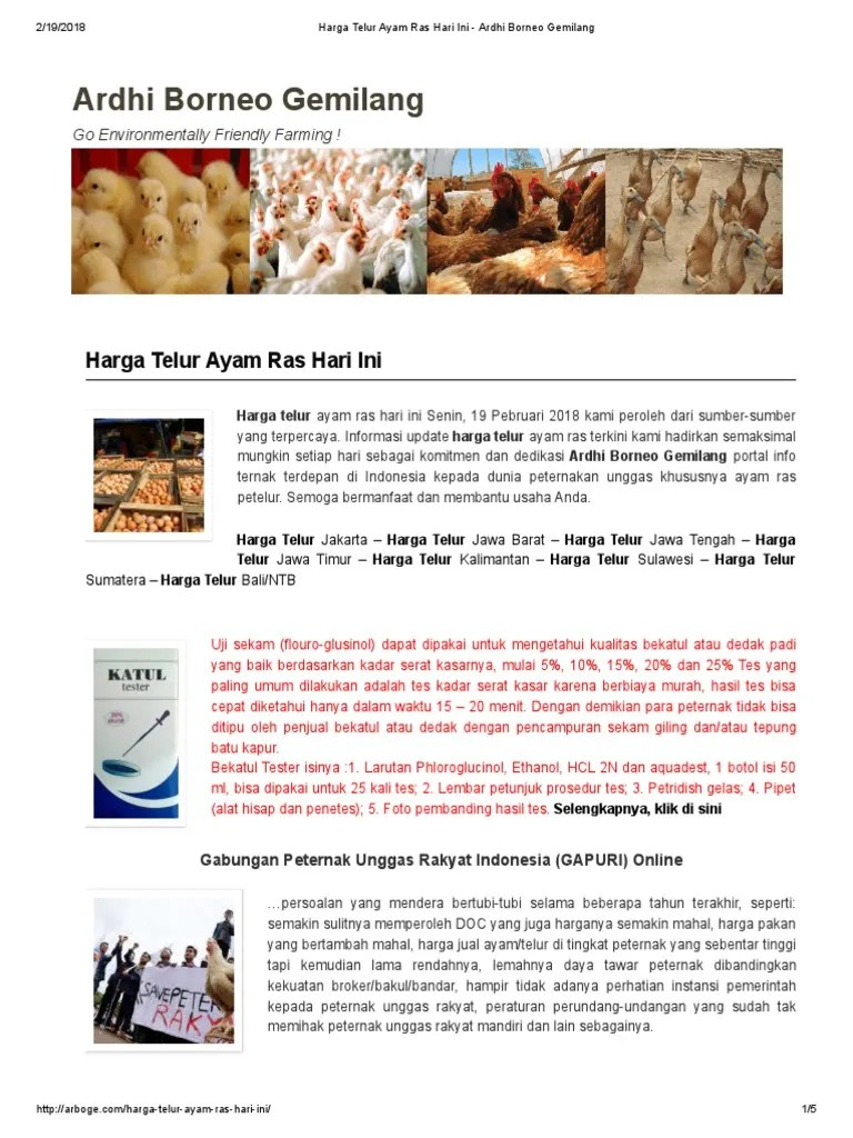 Arboge Harga Telur : arboge, harga, telur, Harga, Telur, Ardhi, Borneo, Gemilang
