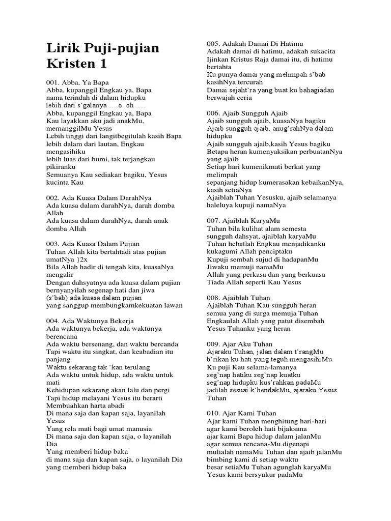 Lirik Lagu Yesus Kemuliaanmu : lirik, yesus, kemuliaanmu, Lirik, Kristen